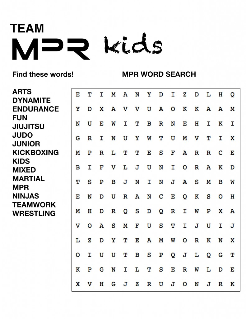 MPR Word Search